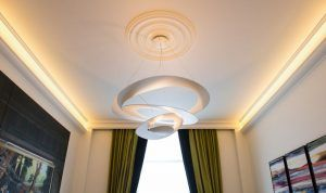 Large plain georgian ceiling roses
