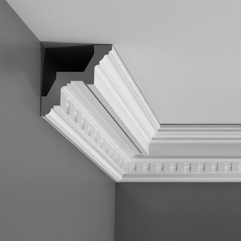 Dentil cornice and coving
