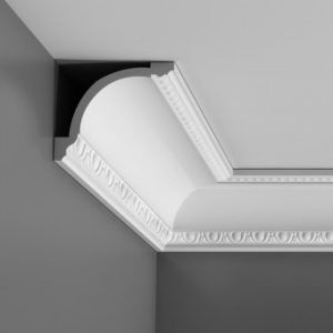 Flexible coving for curved walls