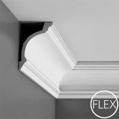 C217 Flexible coving for curved walls.