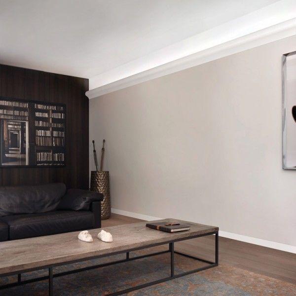 Contemporary uplighting cornice wm boyle interiors for Living room uplighting