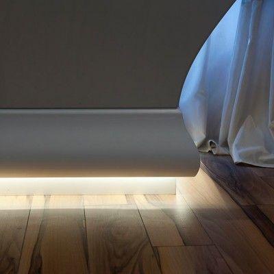 Uplighting coving cornice for led lighting wm boyle - Led skirting board lighting ...