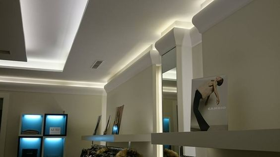 C371 Shade Uplighting Cornice Wm Boyle Interior Finishes