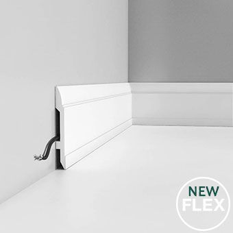 SX104 flexible skirting board