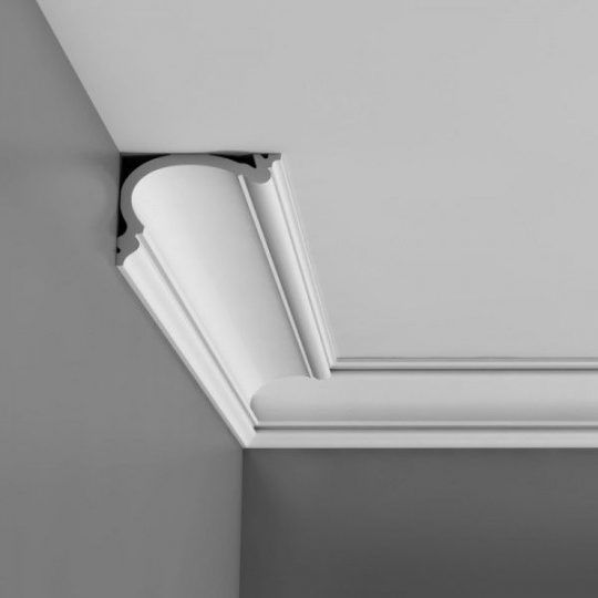 C341 Small plain flexible coving for curved walls