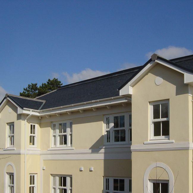 Exterior dentil blocks soffits eaves roof detailing - Molduras para techos ...