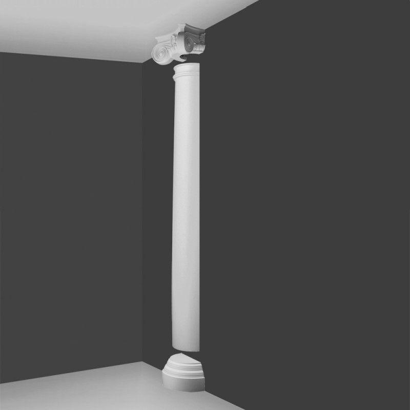 Ki3h Ionic Style Half Column Plain Barrel Wm Boyle Interior Finishes