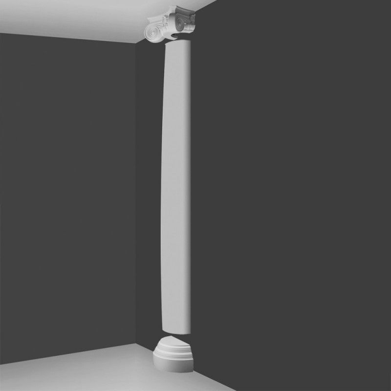 Ki9h Ionic Style Tall Half Column Plain Barrel Wm