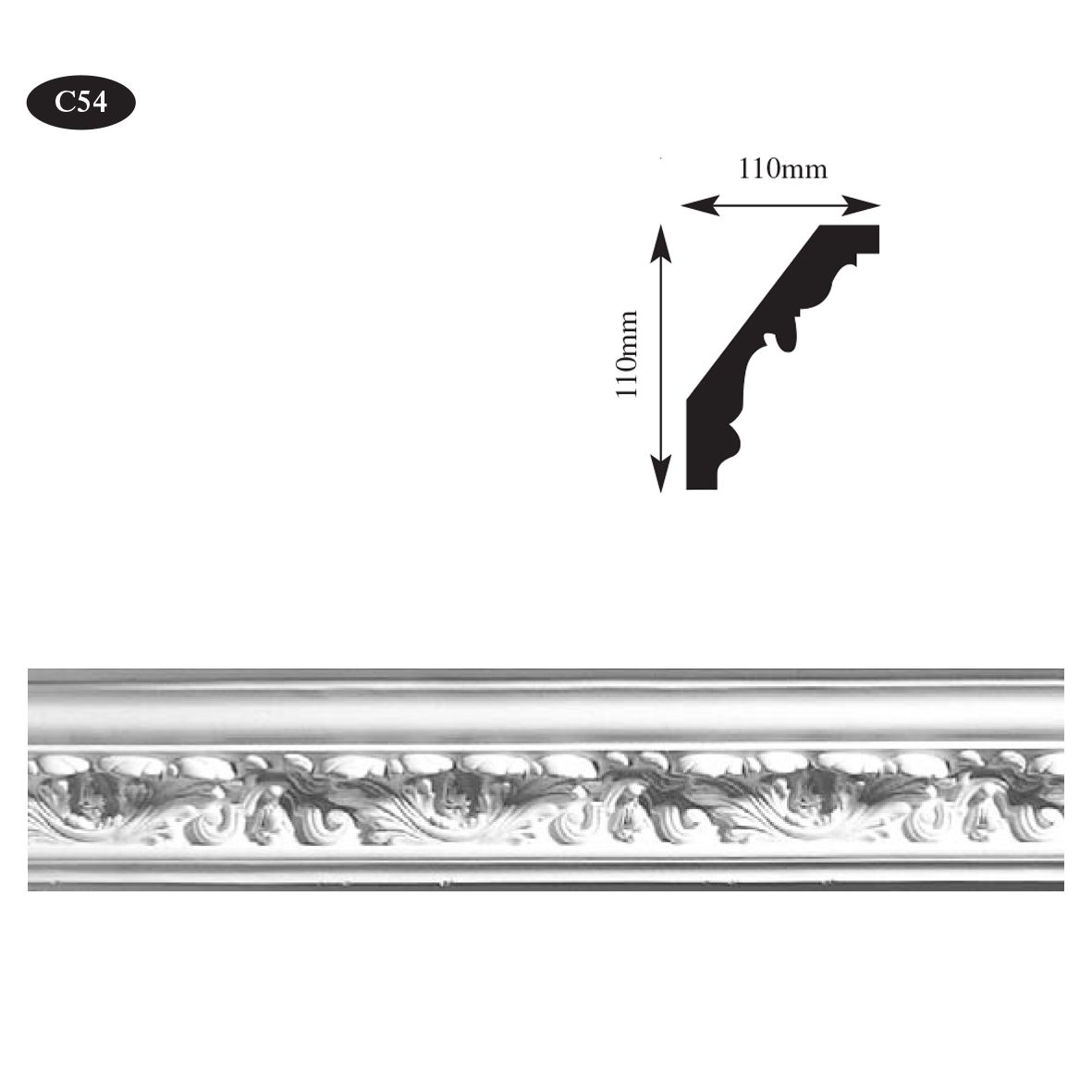 decorative plaster cornice