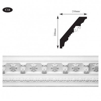 Large Victorian plaster cornice