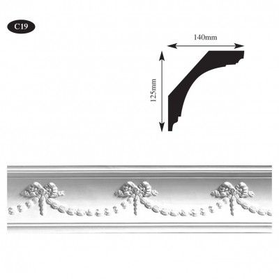 Decorative plaster cornice for bedroom