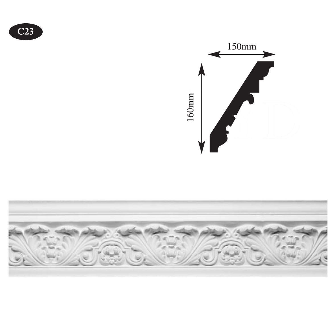 Ornate plaster cornice Glasgow