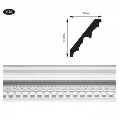 Ornate georgian plaster cornice