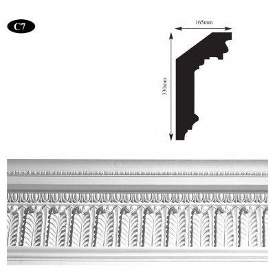 C7 Grand waterleaf plaster cornice