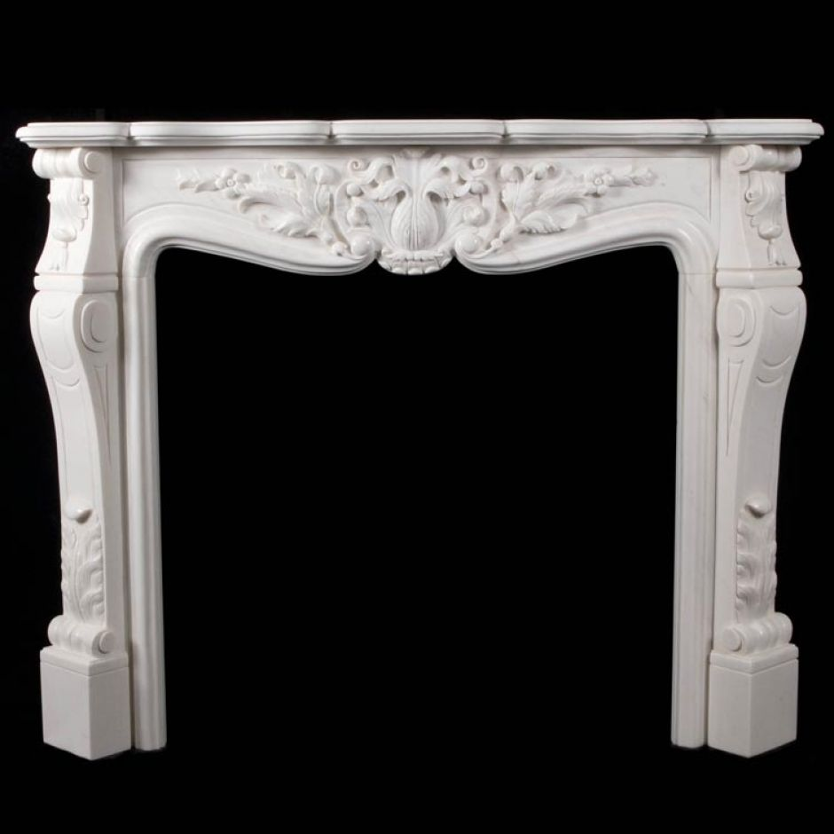 Traditional French Style Marble Fire Surround 39 Louis Xv 39 Carrera White Marble Ayr Wm Boyle