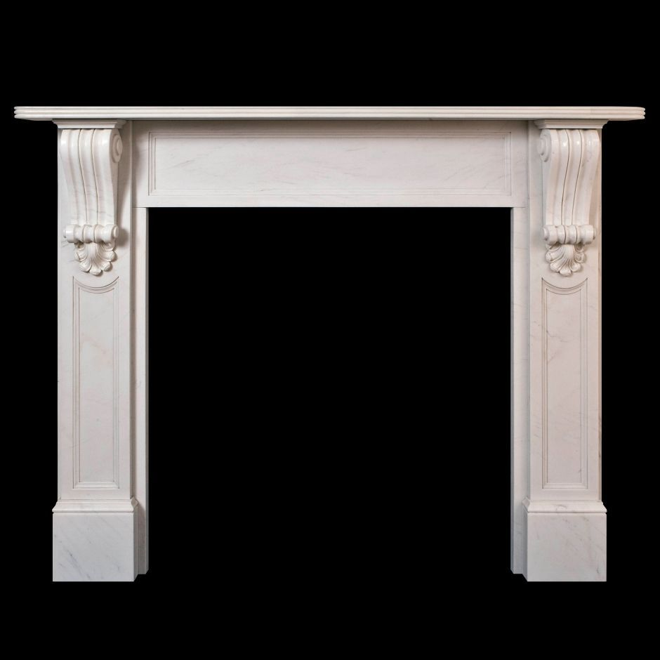 Traditional victorian style marble fire surround 39 william for White marble fire surround