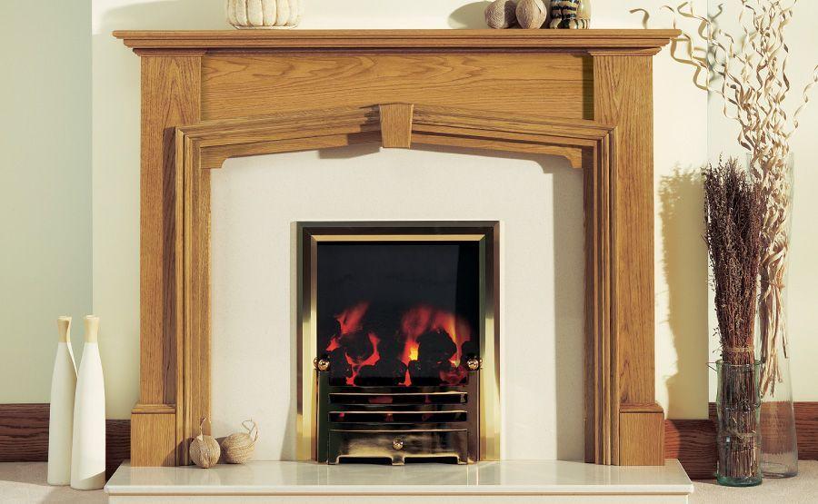 Traditional Wooden Fire Surround Carlisle Light Medium