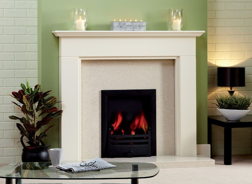 traditional solid wood fire surround 'Aysgarth' antque white ...