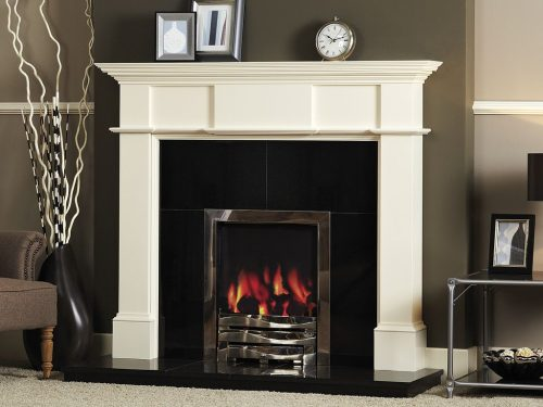 Weymouth surround in antique white paint finish