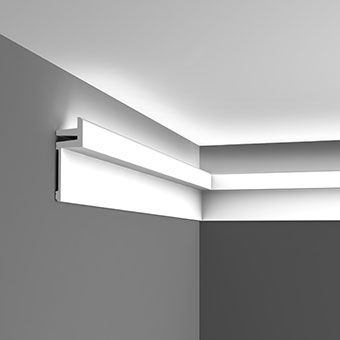 Linear LED uplighting coving