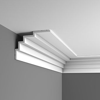 C393 Contemporary stepped coving design