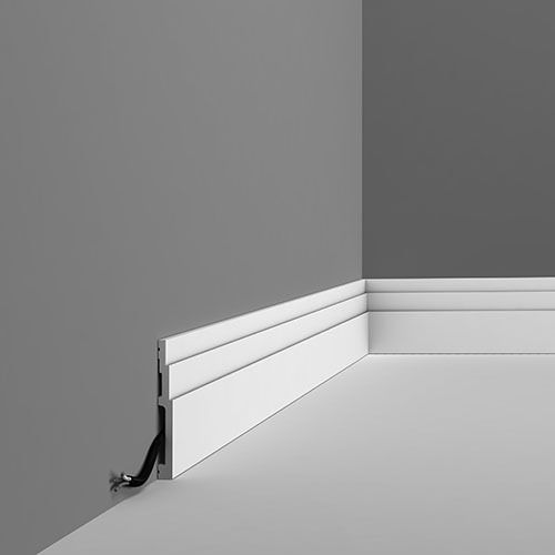 SX180 Contemporary stepped skirting board