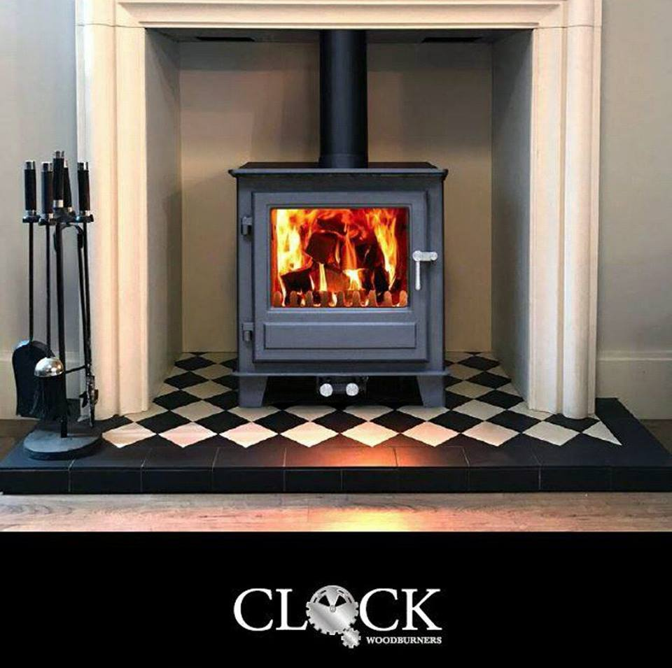 Clock wood burning stoves