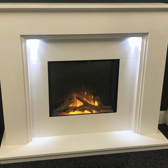 Limestone Fireplace with electric fire Glasgow
