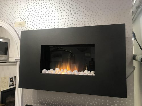 EX-DISPLAY MODEL Flamerite Corello electric fire in graphite finish.  This is a wall mounted suite or can be recessed into cavity space.  1000mm width. SALE PRICE = £420 Inc vat (Usual Price = £570) Sold as seen Installation or delivery service is available.  Please contact showroom for price.
