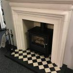 Clock Stove Fireplace Display