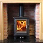clock compact multifuel stove