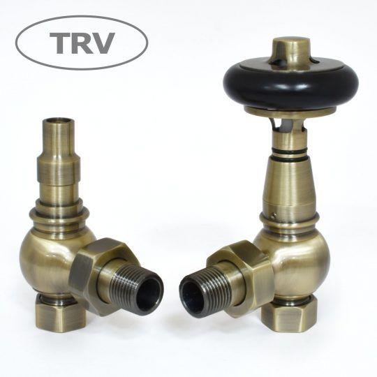 Amberley Radiator Valves antique brass