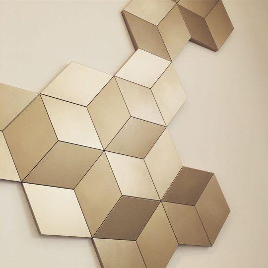 W105 Rombus 3D wall art