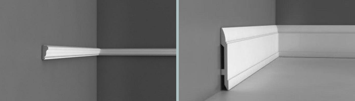 PX117 Small Plain Wall Moulding and SX104 Lambs Tongue Skirting