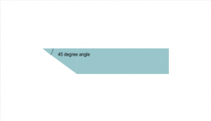 45 degree angle cut