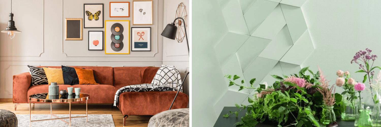 Funky art work & 3D wall tiles