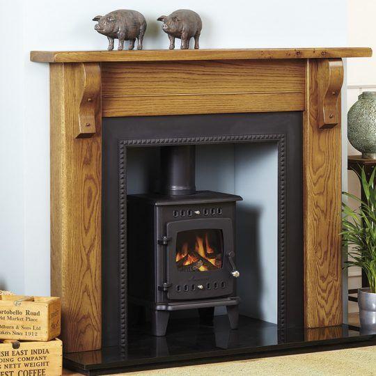 Cropton rustic style fireplace surround